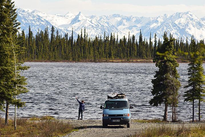 Glen Highway Alaska en furgoneta camper
